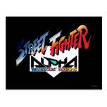 Street Fighter Alpha Logo Postcards