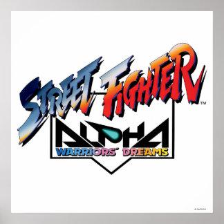 Street Fighter Alpha Logo Poster