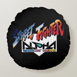Street Fighter Alpha Logo Round Pillow