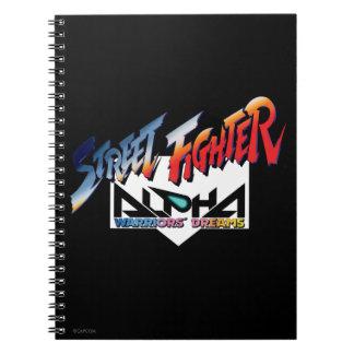 Street Fighter Alpha Logo Spiral Notebook