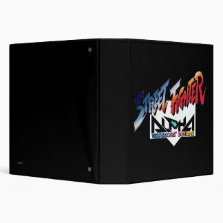 Street Fighter Alpha Logo Vinyl Binder