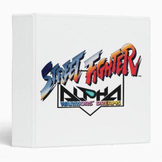 Street Fighter Alpha Logo Vinyl Binders