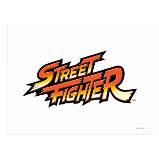 Street Fighter Brand Logo Postcard