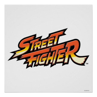 Street Fighter Brand Logo Poster