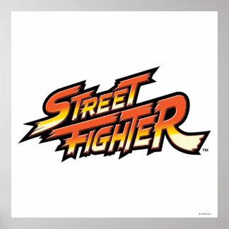 Street Fighter Brand Logo Poster