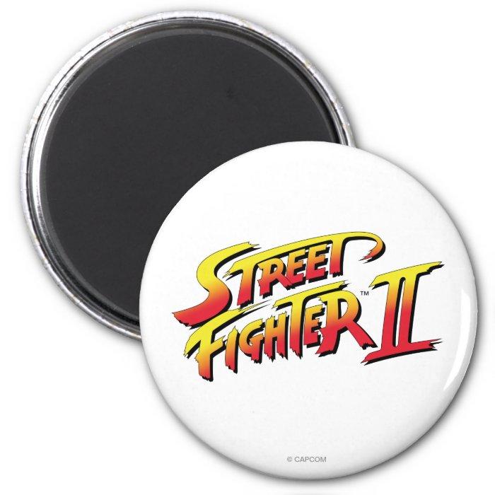 Street Fighter II Logo 2 Inch Round Magnet
