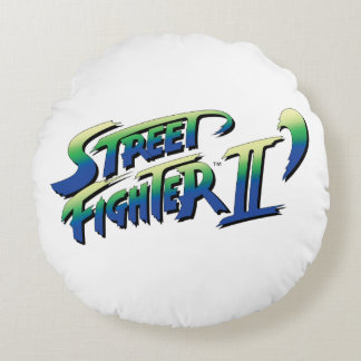 Street Fighter II' Logo 2 Round Pillow