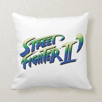 Street Fighter II' Logo 2 Throw Pillow