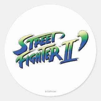 Street Fighter II' Logo Classic Round Sticker