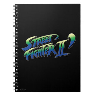Street Fighter II' Logo Note Books