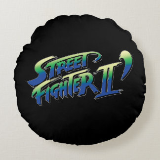 Street Fighter II' Logo Round Pillow