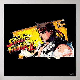Street Fighter II Ryu Poster