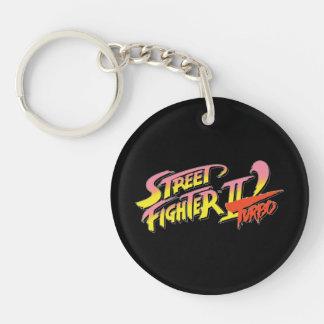 Street Fighter II Turbo 2 Llavero Redondo Acrílico A Doble Cara