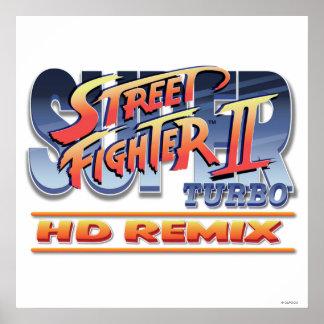 Street Fighter II Turbo HD remezcla el logotipo Posters