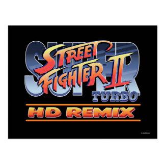 Street Fighter II Turbo HD remezcla el logotipo Tarjeta Postal