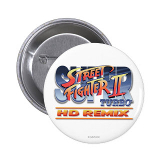 Street Fighter II Turbo HD Remix Logo Pinback Button