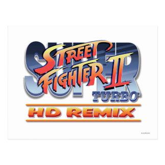 Street Fighter II Turbo HD Remix Logo Postcard