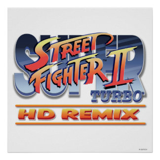 Street Fighter II Turbo HD Remix Logo Poster