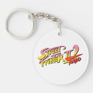 Street Fighter II Turbo Llavero Redondo Acrílico A Doble Cara