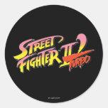 Street Fighter II Turbo Pegatina Redonda