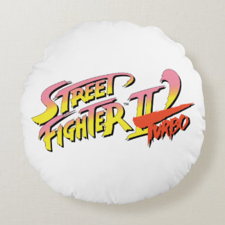 Street Fighter II Turbo Round Pillow