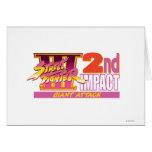 Street Fighter III 2nd Impact Logo Greeting Card