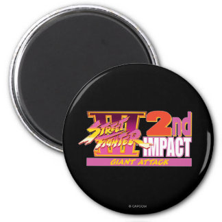 Street Fighter III 2nd Impact Logo Magnet