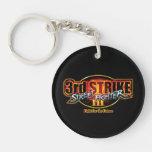 Street Fighter III 3rd Strike Logo Double-Sided Round Acrylic Keychain