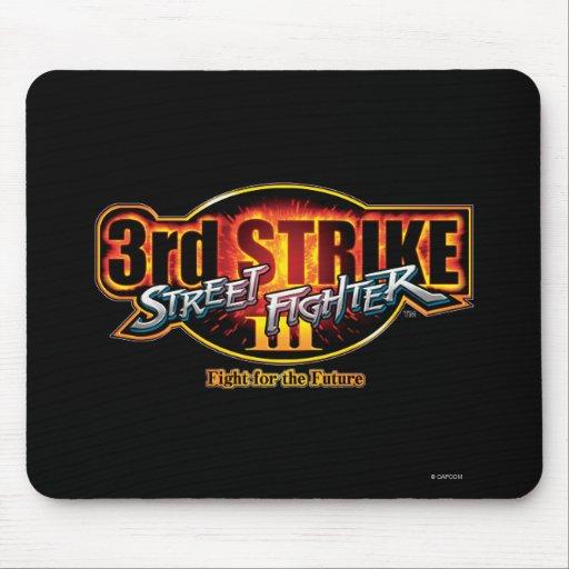 Street Fighter III 3rd Strike Logo Mousepads