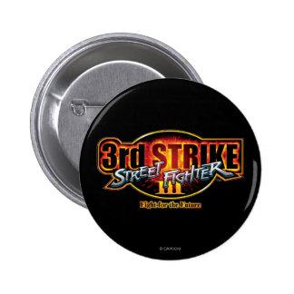 Street Fighter III 3rd Strike Logo Pinback Button