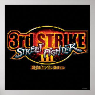 Street Fighter III 3rd Strike Logo Poster