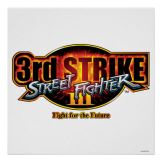 Street Fighter III 3rd Strike Logo Print