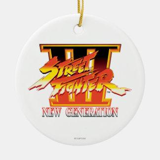 Street Fighter III New Generation Logo Ceramic Ornament