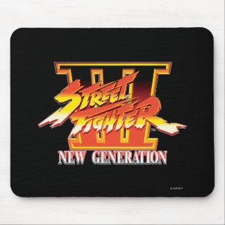 Street Fighter III New Generation Logo Mouse Pad