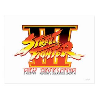 Street Fighter III New Generation Logo Postcard
