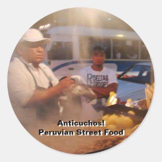 Street Food in Peru - Anticuchos Classic Round Sticker