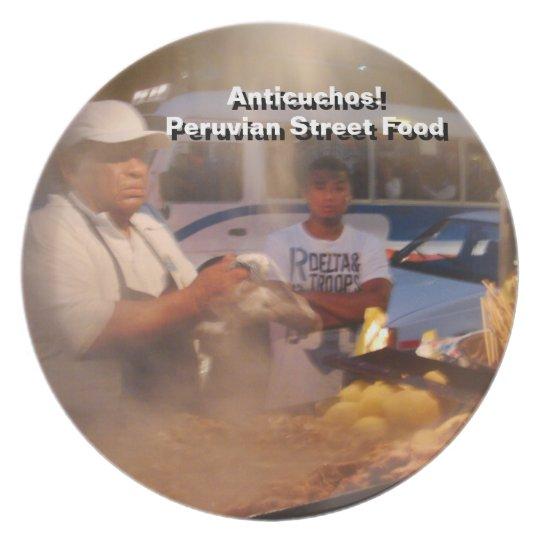 Street Food in Peru - Anticuchos Plate