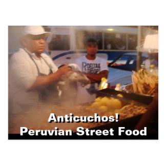 Street Food in Peru - Anticuchos Postcard