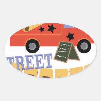 Street Foodie Oval Sticker