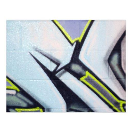 Street Graffiti Arrows Personalized Invitations