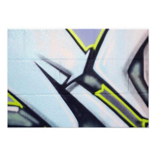 Street Graffiti Arrows Custom Invites