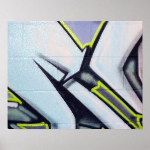Street Graffiti Arrows Poster