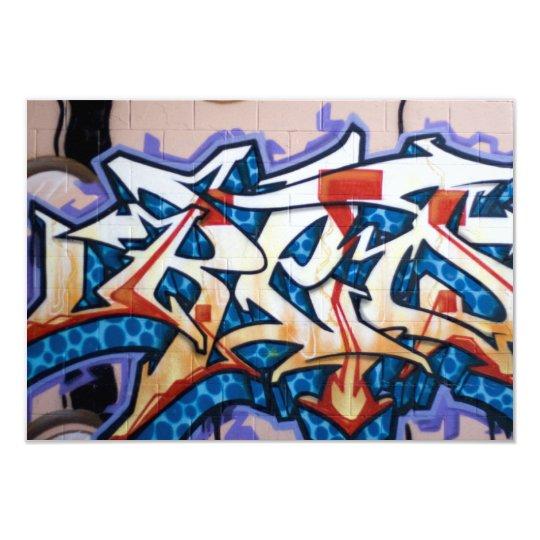 Street Graffiti Art Card