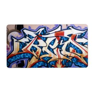Street Graffiti Art Label