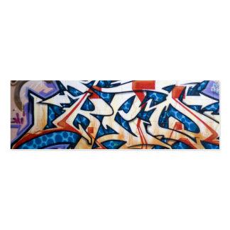Street Graffiti Art Mini Business Card
