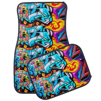 Street graffiti  Car Mats