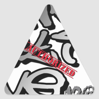Street Graffiti Style Triangle Sticker