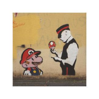 Street Grafitti Art Mario Style Canvas