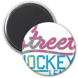 street hokey team 2 inch round magnet