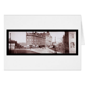 Street Hotel Boston, MA Photo 1903 Greeting Card